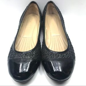 Easy Spirit black ballet flat textured -sz…